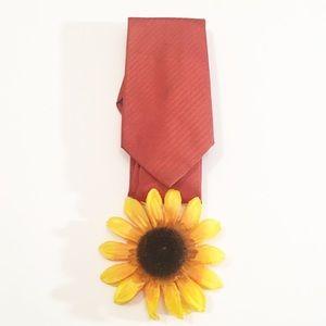 Burnt orange Banana Republic 100% silk men's tie